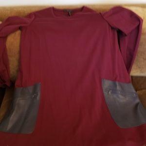 BCGB Farah long Sleeve Leather Pocket Dr3ss